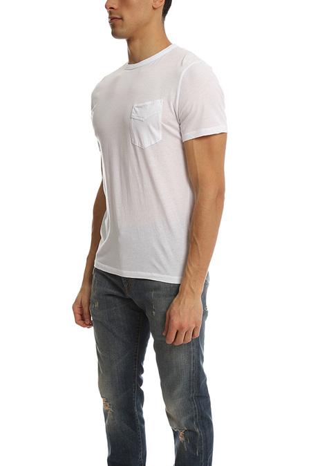 Officine Generale Garment Dye Pocket T-Shirt - White