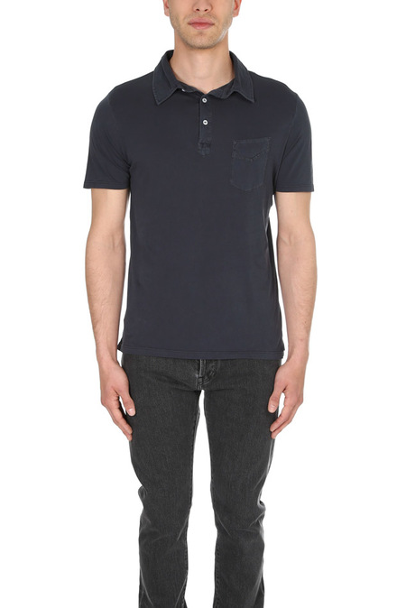 Officine Generale Jersey Polo Top - Navy