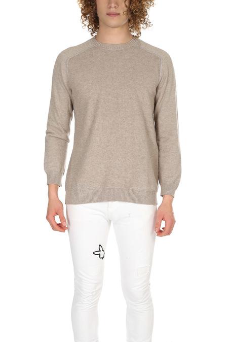 Avant Toi Mended Crewneck Sweater - Basalt