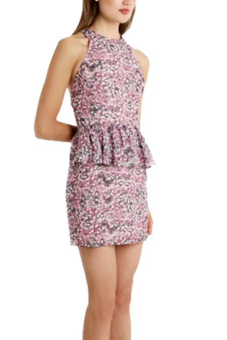 Charlotte Ronson Floral Peplum Dress - Calyspo