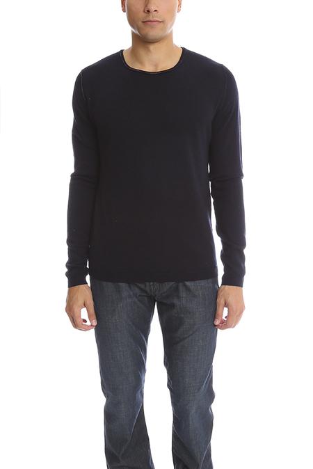 120% LINO Cashmere Sweater - Blue/Black