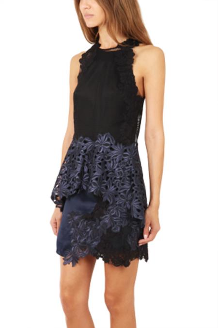 3.1 Phillip Lim Sleeveless Floral Lace Tank Top - Black/Navy