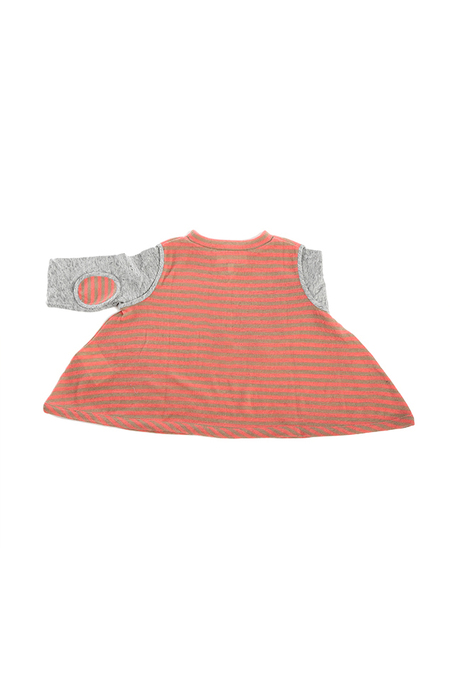 kids 3.1 Phillip Lim Kids 3/4 Sleeve Swing Top Sweater - Beige/Rose