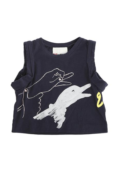 kids unisex 3.1 Phillip Lim Kids Goose Puppet Muscle T-Shirt - Navy
