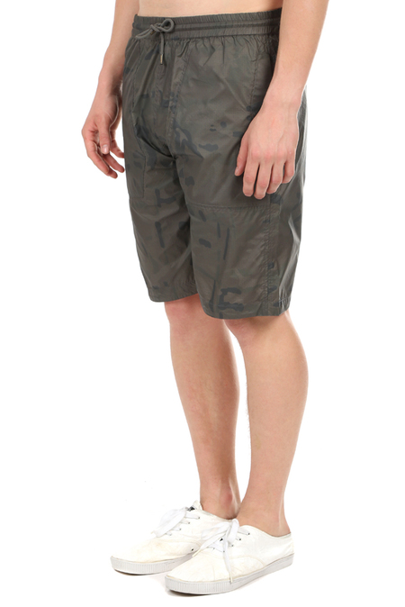 Maharishi Camo Tech Track Shorts - Charcoal