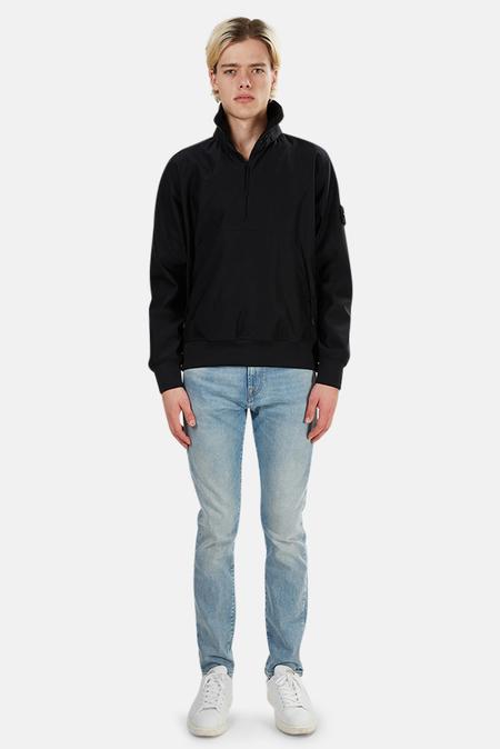 Stone Island Ghost Nylon 3/4 Zip Pullover Outerwear - Black