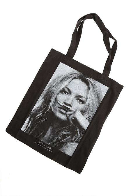 Kids Little Eleven Paris Kate Moss Tote Bag - Black