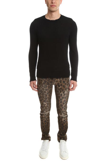 R13 Leopard Skate Jeans - Brown