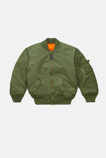 Kids Alpha Industry Alpha Industries Bomber Jacket - Green