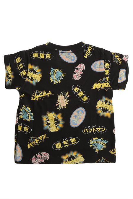 Kids Little Eleven Paris Japanese Batman T-Shirt - Black