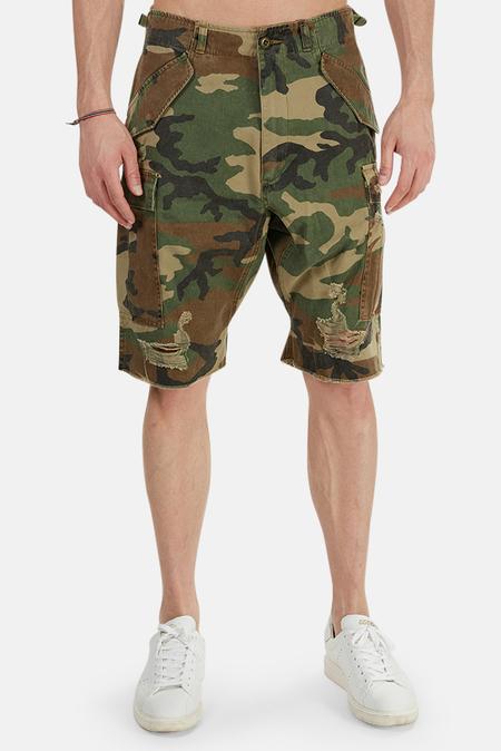 R13 Surplus Shredded Cargo Shorts - Camo