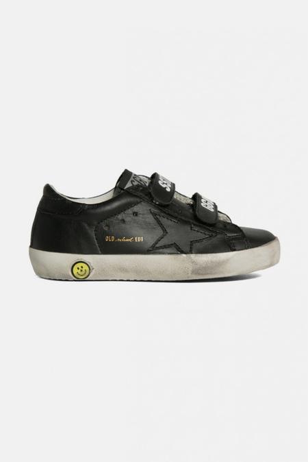 kids Golden Goose Toddler Old School Shoes - Black Leather
