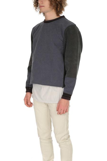 Long Journey Nash Sweatshirt with Zipper Sweater - Grey