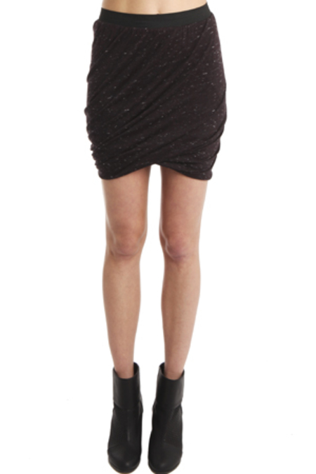 Enza Costa Double Skirt - Burgundy