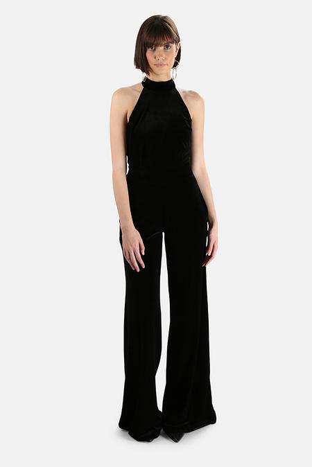 MISA Los Angeles Xandra Velvet Jumpsuit - Black