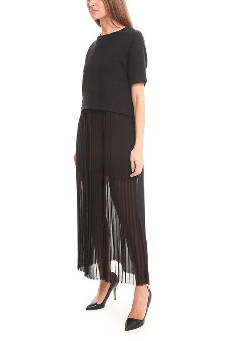 EACH x OTHER Long Pleats Dress - Black