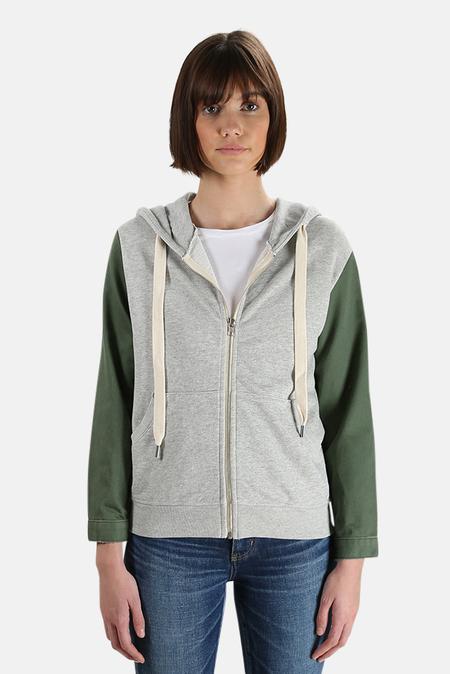 NSF Gretchen Zip Up Hoodie Sweater - Heather Grey