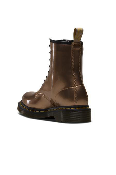 Dr. Martens Vegan 1460 Chrome Metallic Boot Shoes - rose Gold