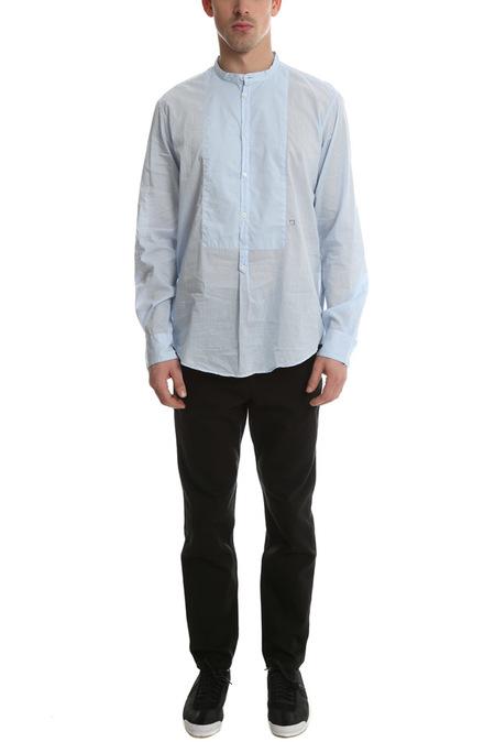 Massimo Alba Priest Collared Shirt - Sky Blue
