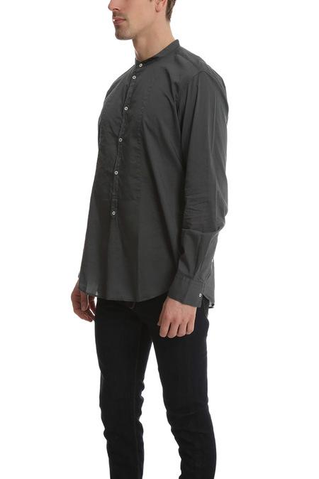 Massimo Alba Priest Collared Shirt - Graphite