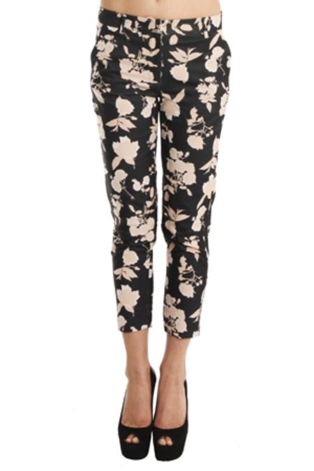 SUNO Tailored Trouser - Jacquard Roses