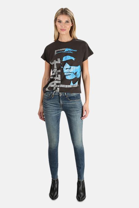MadeWorn Rock Easy-E Blue Portrait T-Shirt - Dirty Black