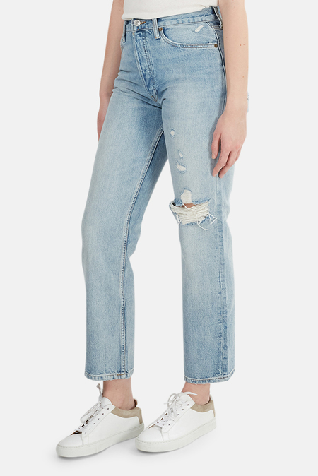 RE/DONE 90s Loose Straight Jeans - Destroyed Light