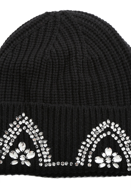 Markus Lupfer Embellished Cat Ear Beanie Cap - Black