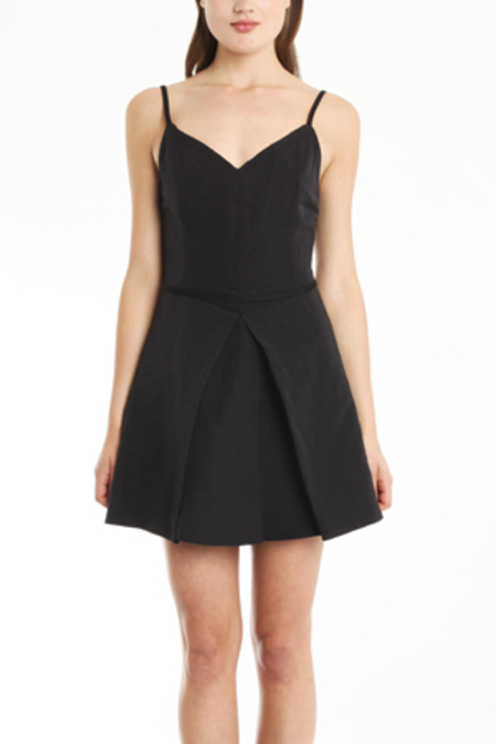 THEYSKENS THEORY Dillon Flacky Dress - Black