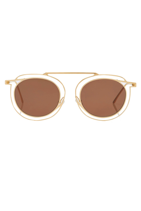 Thierry Lasry Potentially Glasses - Gold/Brown
