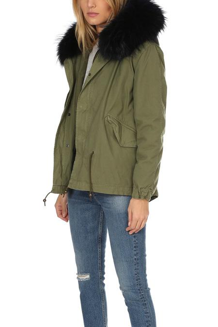 Mr & Mrs Italy Army Mini Parka Jacket - Army