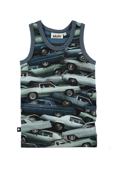 Kids Molo Jim Top - Stacked Cars