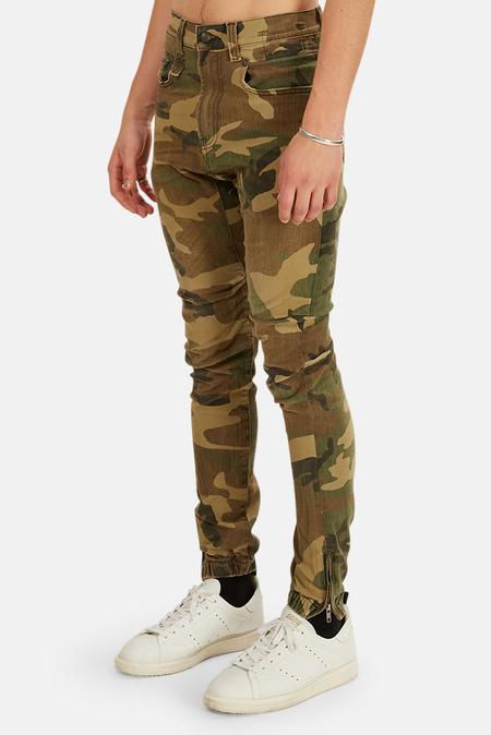 R13 Cooper Tapered Drop Pants - Beige
