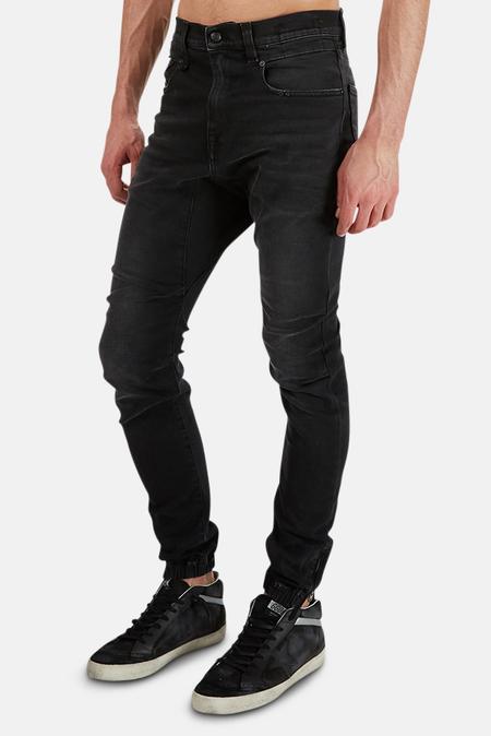 R13 Cooper Tapered Drop Jeans - Black Owen