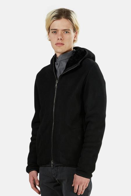 Giorgio Brato Shearling Fur Hoodie Jacket - Nero