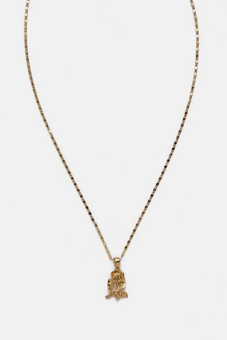 Vanessa Mooney The Mini Rose Necklace - Gold
