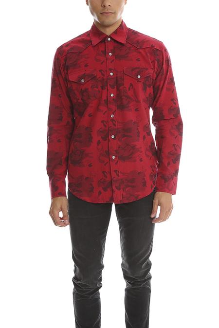 Lucien Pellat-Finet Red Skull Shirt - Red/Black