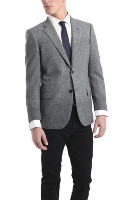 Simon Spurr Two Button Notch Jacket - Grey