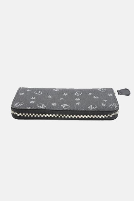 Lucien Pellat-Finet Long Zip Wallet - Black/Derby Grey