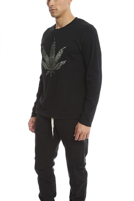 Lucien Pellat-Finet Embroidered Leaf T-Shirt - Black