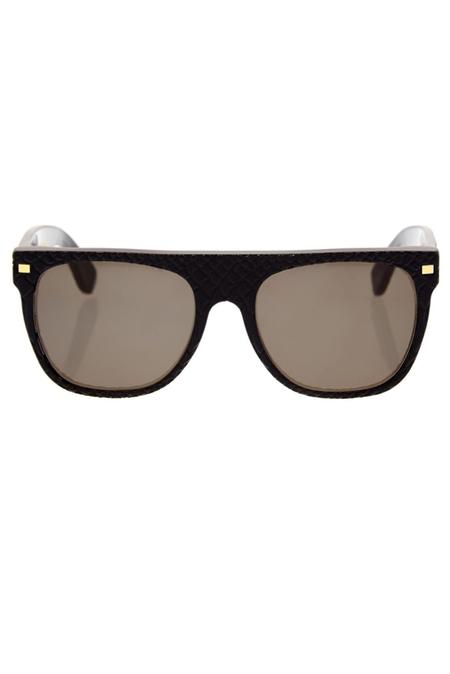 RETROSUPERFUTURE Flat Top Goffrato Sunglasses - Black