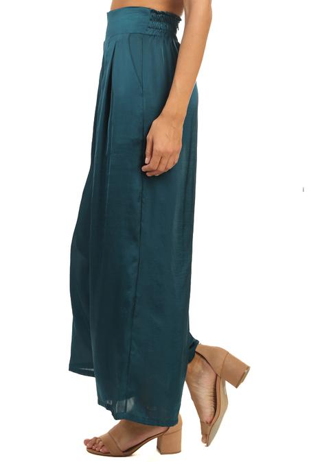 MISA Los Angeles Taj Pants - Emerald Satin
