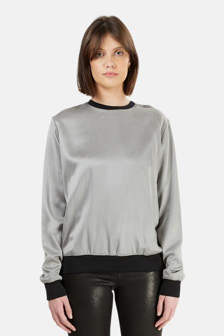 Alexander Wang Silk Sweatshirt - Grey