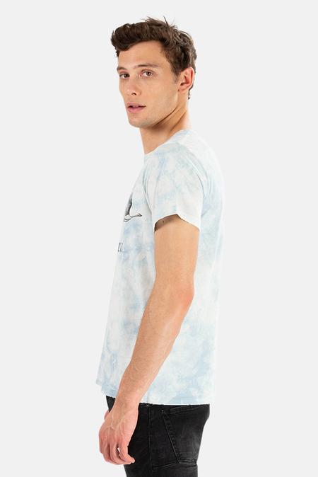 Remi Relief x Blue&Cream Tie Dye Swan Blue&Cream Graphic T-Shirt - Light Indigo