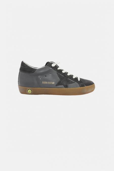 kids Golden Goose Toddler Superstar Sneaker Shoes - Grey Suede/Leather Star