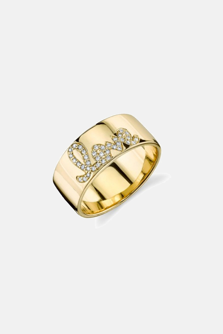 Sydney Evan Diamond Love Band Ring - 14K Yellow gold