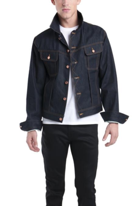 Simon Spurr Selvedge Denim Jacket - Blue