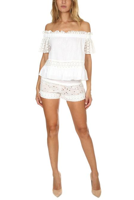 MISA Los Angeles Meli Shorts - White