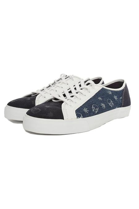 Lucien Pellat-Finet Monogram Mix Sneaker Shoes - Indigo