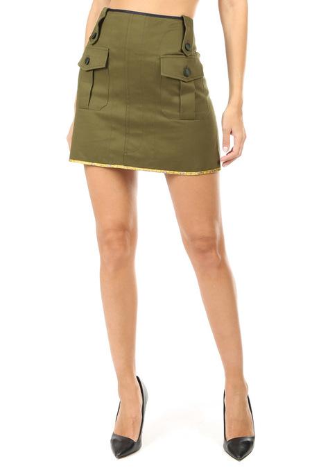 Harvey Faircloth Mini Skirt - Olive